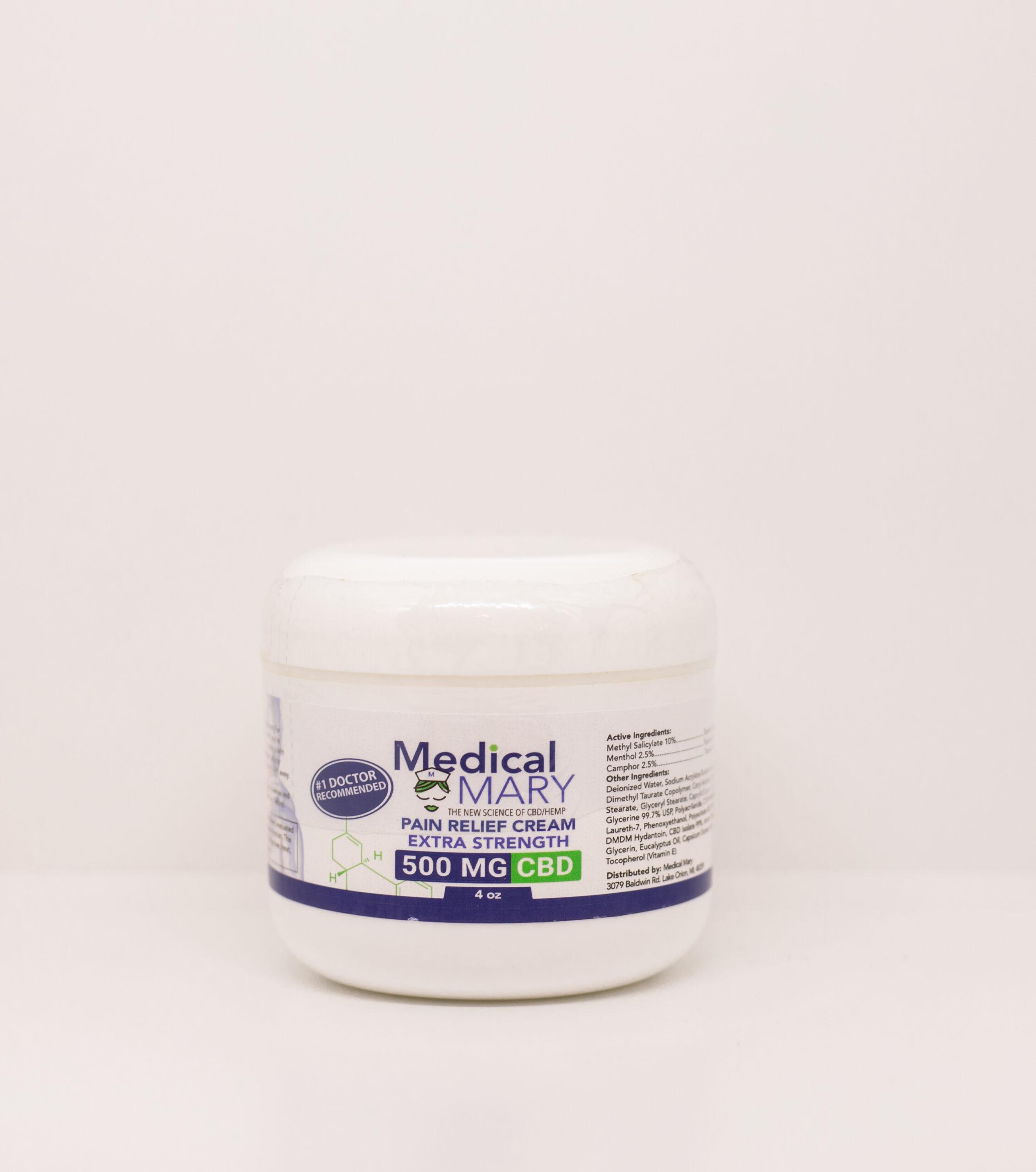 Pain Relief Cream (4 oz.) - CBD