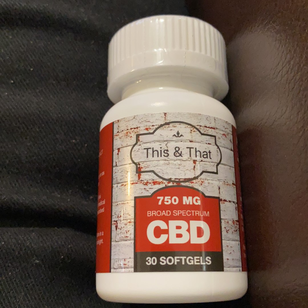 This and That 750 MG CBD Soft Gel Tabs